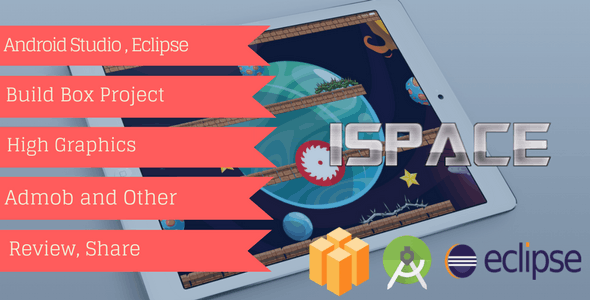 ISpace Buildbox Game Template | High Graphics | Admob - Chartboost - IAP