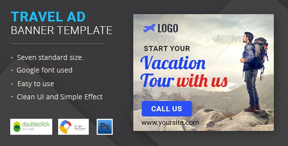 Travel | html5 Animated Google Banner