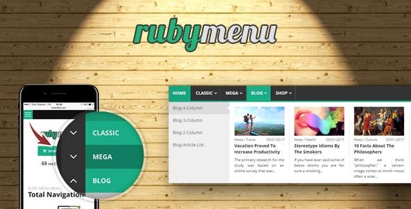 Ruby Mega Menu - CodeCanyon Item for Sale