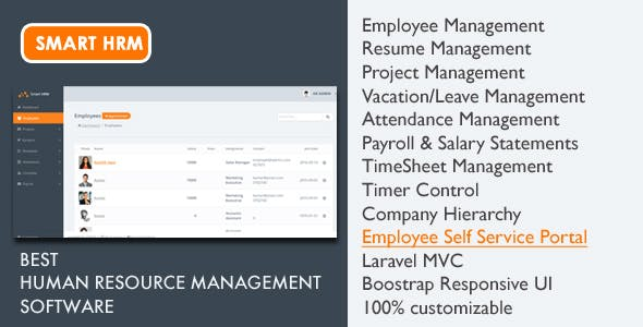 Smart HRM - HR Software with Project Management, Payroll, Attendance & Time sheet