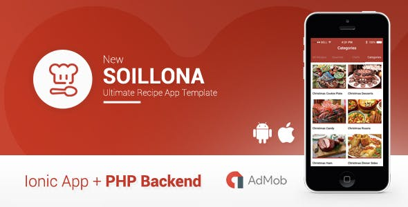 Soillona | Recipes App with Backend Ionic 1