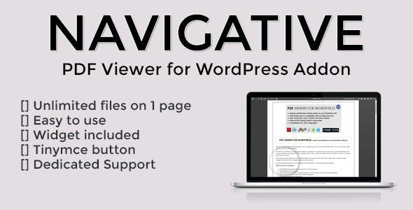 Navigative - PDF Viewer for WordPress addon