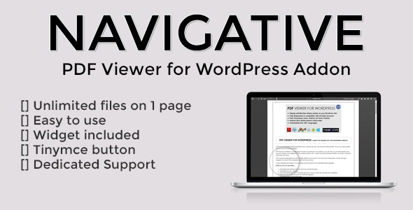 Navigative - PDF Viewer for WordPress addon - CodeCanyon Item for Sale