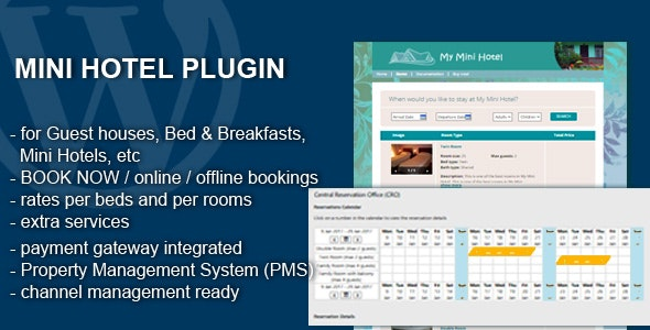 Mini Hotel - Booking and Management WP Plugin by MyHotelZone