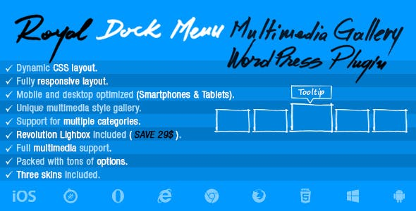 Royal Dock Menu Multimedia Slider Wordpress Plugin