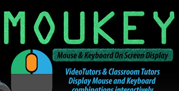 Mouse and Keyboard OSD for Video Tutors - Moukey