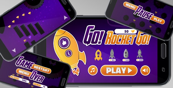 Go Rocket Go - Android Game with Admob Interstitial & Banner - Buildbox & Eclipse Project - CodeCanyon Item for Sale