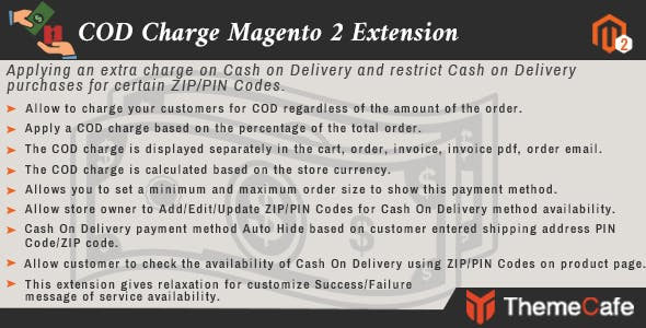 COD Charge Magento 2 Exension
