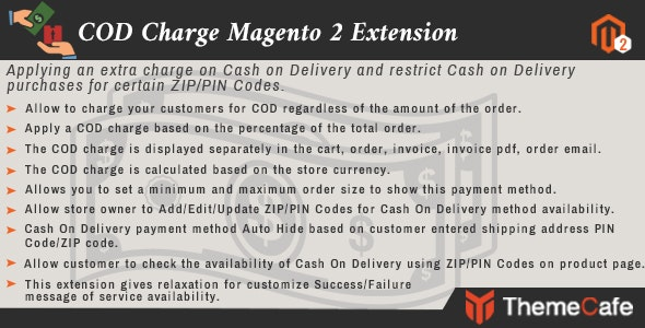 COD Charge Magento 2 Exension - CodeCanyon Item for Sale