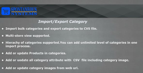 Import/Export Categories Magento2