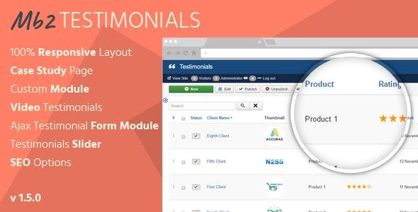 Mb2 Testimonials - Joomla Testimonials Extension - CodeCanyon Item for Sale
