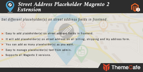 Street Address Placeholder - CodeCanyon Item for Sale