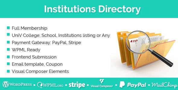 Institutions Directory by e-plugins   CodeCanyon