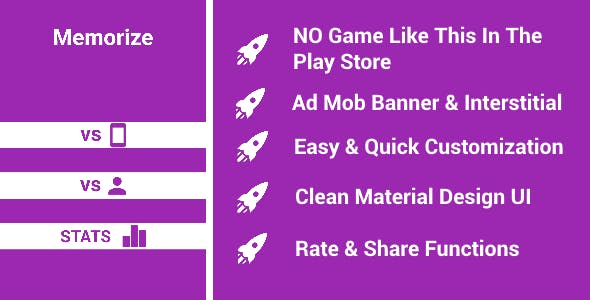Memorize: Unique Game + AD MOB (Banners & Interstitials)