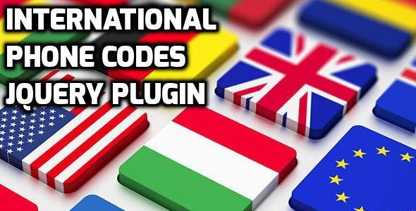 International Phone Codes jQuery Plugin