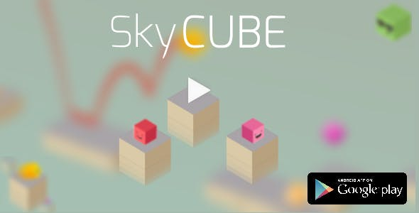 Sky Cube - Buildbox Game - Complete Game + Eclipse Project(with Admob&Heyzap)