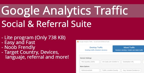 Google Analytics Traffic - Social & Referral Suite