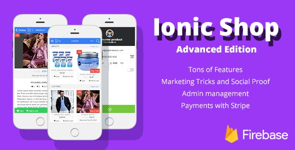 Ionic Shop - Advanced Ecommerce Template with Firebase v3 and Stripe