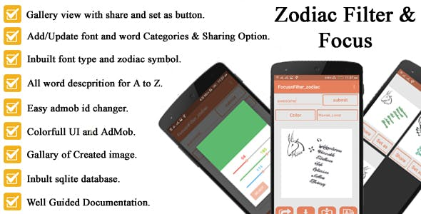 New focus.n.filters for zodiac symbol full android application code with AdMob