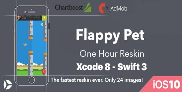 Flappy Pet - One Hour Reskin - iOS10 and Swift 3 ready