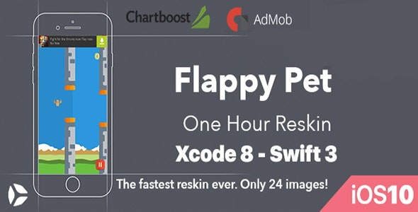 Flappy Pet - One Hour Reskin - iOS10 and Swift 3 ready - CodeCanyon Item for Sale