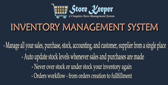 Storekeeper V1 - Inventory Management System