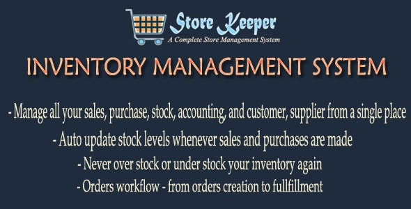 Storekeeper V1 - Inventory Management System - CodeCanyon Item for Sale