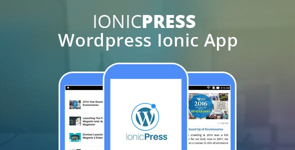 IonicPress : Wordpress Ionic App