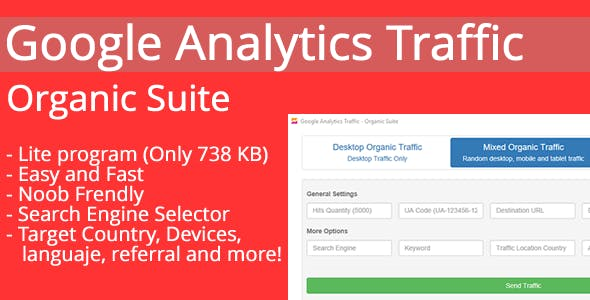 Google Analytics Traffic - Organic Suite