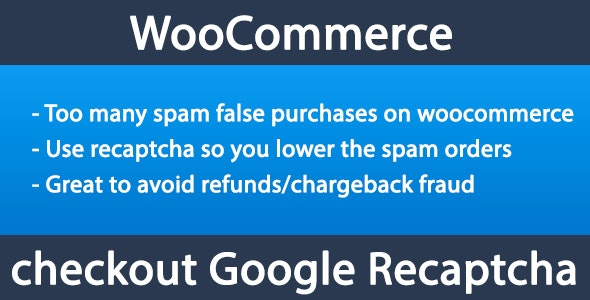 Woocommerce Checkout Recaptcha - CodeCanyon Item for Sale