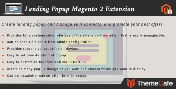 Landing Popup Magento 2 Exension - CodeCanyon Item for Sale