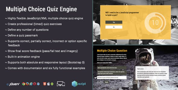 Multiple Choice Quiz Engine