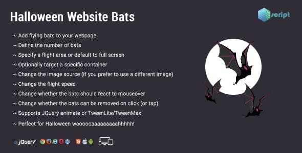 Halloween Website Bats