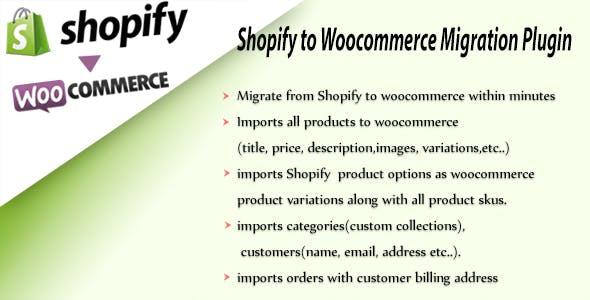 Shopify To Woocommerce Importer