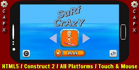 Surf Crazy | HTML5 Game - Construct 2 CAPX