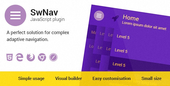 SwNav — Adaptive Menu Plugin - CodeCanyon Item for Sale