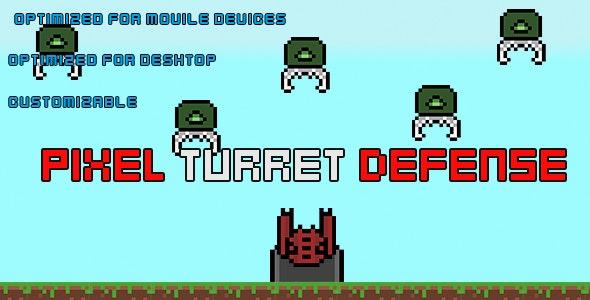PixelTurretDefense(HTML5 Game + Construct 2 CAPX) - CodeCanyon Item for Sale