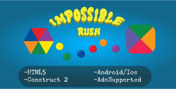 Impossible Rush (HTML5 Game + Construct 2 CAPX) - CodeCanyon Item for Sale