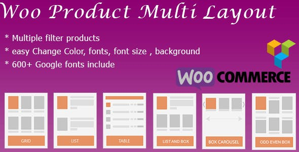 WooCommerce Shop Design & Produt Layout ( masonry, box, grid, list, slider, table, Carousel )