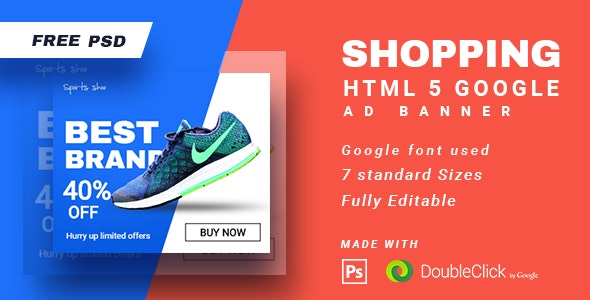 Shopping - HTML5 Animated Banner 15 - CodeCanyon Item for Sale