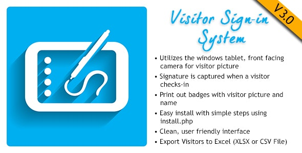 Visitor Signin System - CodeCanyon Item for Sale