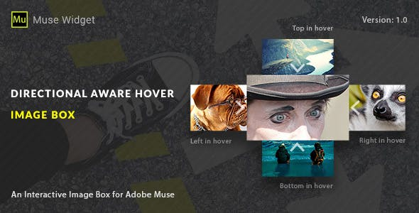 Directional Aware Hover Image Box - Adobe Muse Widget