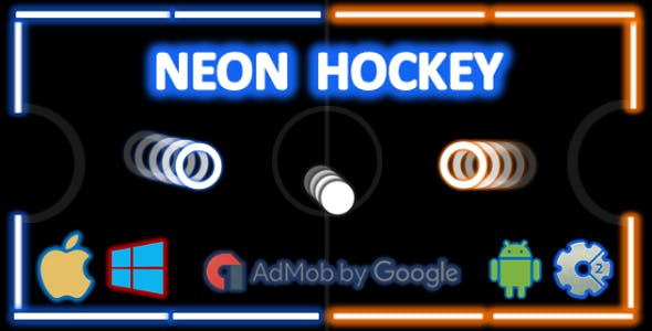 Neon Hockey - Local Multiplayer + Admob (Construct 2 - CAPX)