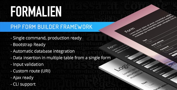 PHP Form Builder Framework by ThemeBucket | CodeCanyon
