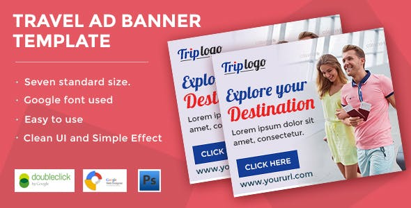 Travel | HTML5 Animated Google Banner 02