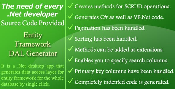 Entity Framework DAL Generator - Source Code