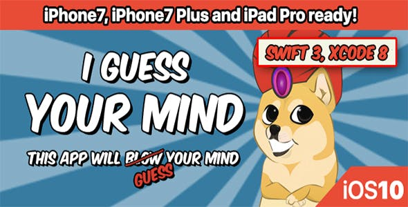 I Guess Your Mind - Xcode 8, Swift 3 readyaddicting, admob, app template, best code, cheap, fastest