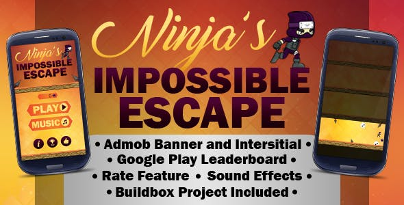 Ninja's Impossible Escape - Endless Version (Buildbox 2.2.8 & Eclipse Project)