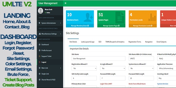 User Management LTE by gabisajr | CodeCanyon