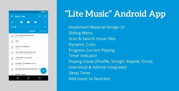 Lite Music - Android Music Player 4.3 - CodeCanyon Item for Sale